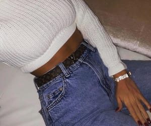 fashion, belt, and bracelet image