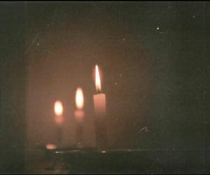 candle, light, and dark image