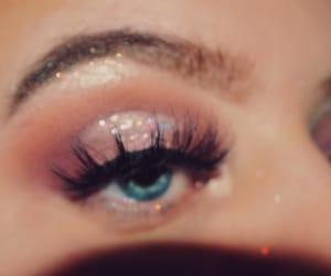 beautiful, brown, and eyelashes image