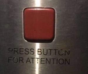 attention, quotes, and button image