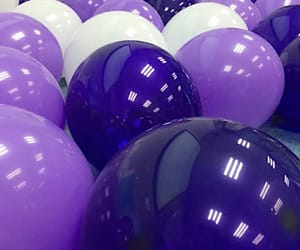 balloons, purple, and celebration! image