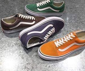 colours, vans, and shoes image