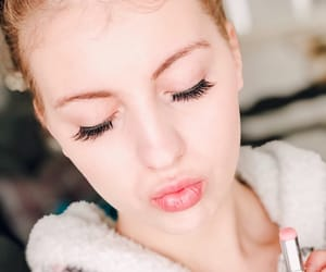 beauty, lashes, and liebe image