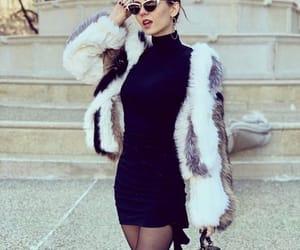 black dress, fashion, and girl image