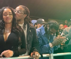 couple, love, and quavo image