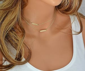 etsy, minimal necklace, and gold bar necklace image