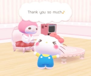 hello kitty, tomotoru, and my melody image