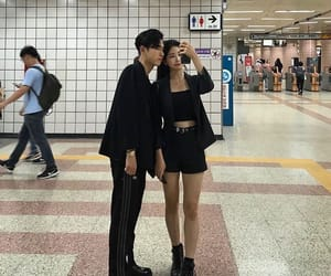couple, kfashion, and korean image