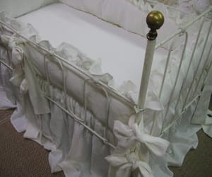 etsy, romantic nursery, and linen baby bedding image