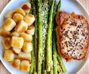 asparagus, delicious, and dinner image