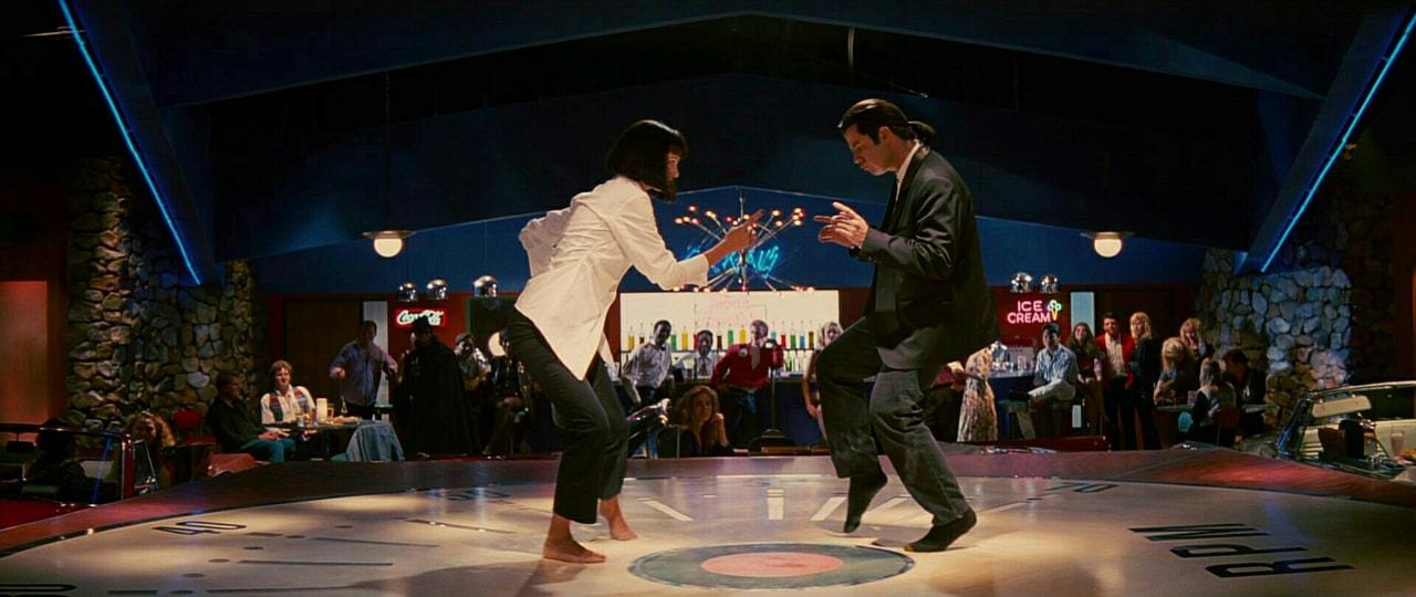 John Travolta and pulp fiction image