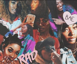 90s, blackgirlmagic, and Collage image