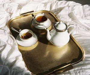tea, bed, and vintage image
