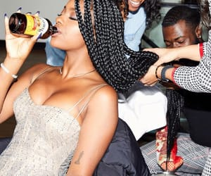 black, bling, and braids image