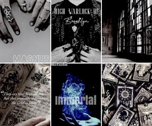 aesthetic, warlock, and magnus bane image