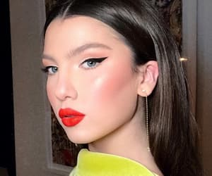 blush, perfect skin, and eyeliner image