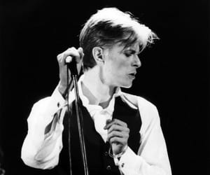 black and white, david bowie, and music image