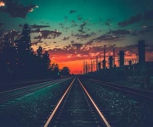 sunset, photography, and sky image