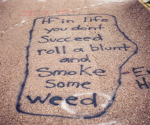quote, weed, and smoke image