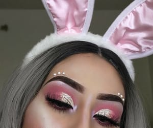 bunny ears, easter, and gold image