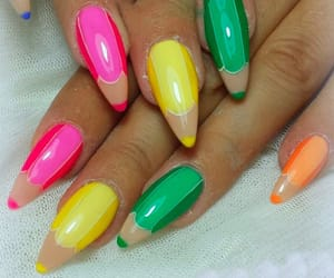 colors, neon, and Girls Fashion image