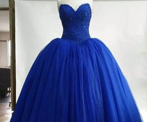 blue dress, lace dress, and ball gown dress image