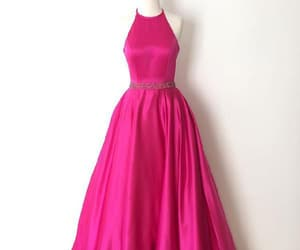 simple prom dress, pink evening dresses, and prom dress cheap image