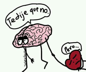 brain, love, and frases image
