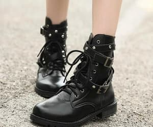 thick heeled, short boots, and cheap women shoes image