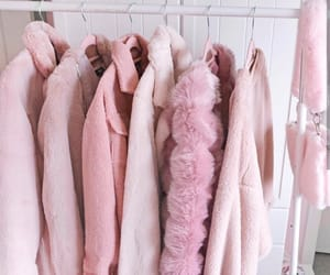 closet, clothing rack, and pink aesthetics image