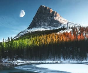 four seasons, lake, and landscape photography image