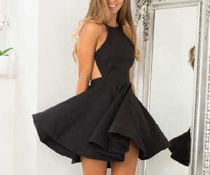 short homecoming dress, prom dress black, and homecoming dress sexy image