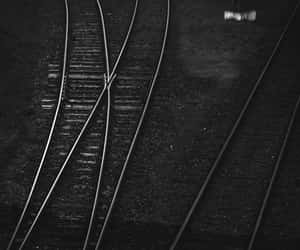 black and white, train, and bw image