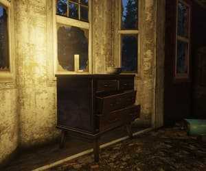 abandoned, dresser, and candle image