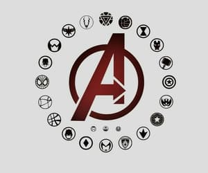 Avengers, logos, and Marvel image