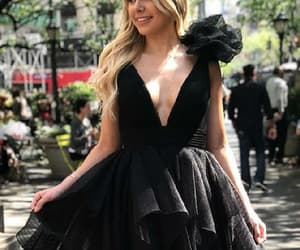 homecoming dresses, black party dresses, and v-neck homecoming dresses image