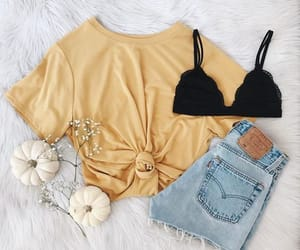 clothes, summer, and yellow image