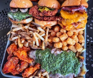burger, Chicken, and tasty image
