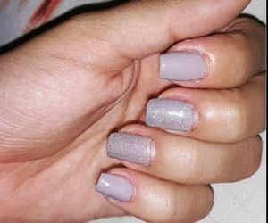 gray, glitter nails, and nails diy image