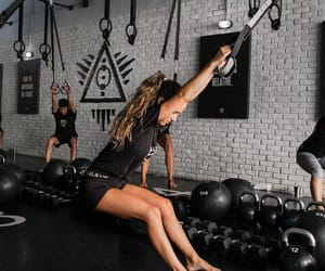 fitness, workout, and girls image