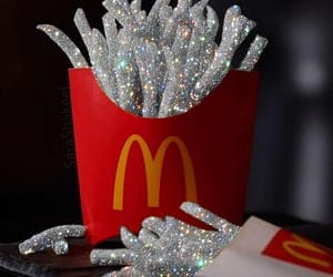 glitter, McDonalds, and silver image