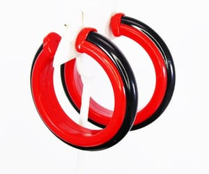 black and red, etsy, and lucite retro image