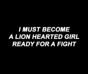 quotes, lion, and fight image