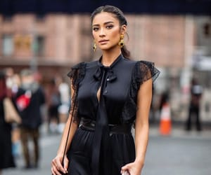 black, lace, and shay mitchell image