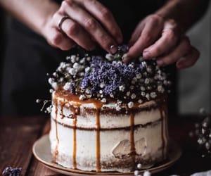 cake, chocolate, and f image
