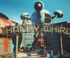 amusement park, fallout, and rusted image