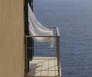 aesthetic, balcony, and beach image