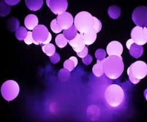 purple, balloons, and aesthetic image