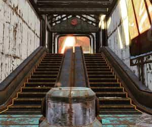 amusement park, empty, and fallout image