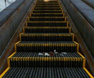 disrepair, run-down, and escalator image